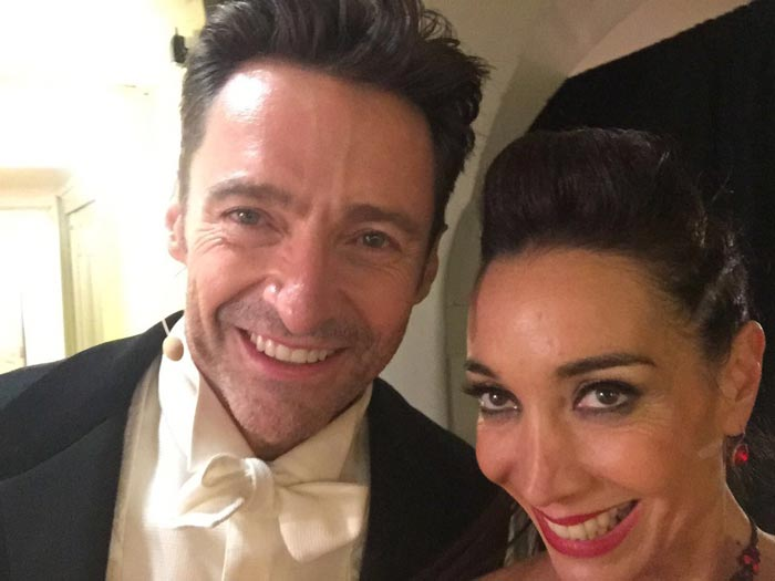 Mora Godoy and Hugh Jackman